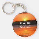 Change Is A Process Basic Round Button Keychain