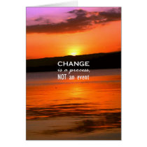 Change Is A Process Card