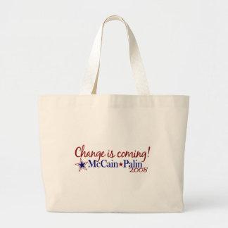 Change is coming! (McCain Palin 2008) Tote Bag