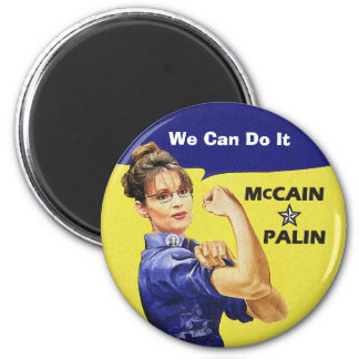 """change is coming"" Mccain / Palin Republican Party 2 Inch Round Magnet"