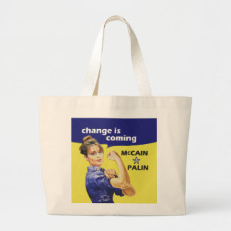 """""""change is coming"""" Mccain / Palin Republican Party Bag"""