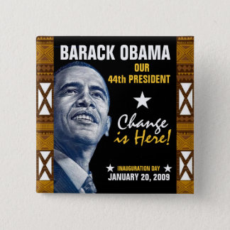 Change is Here! (Kente) Button