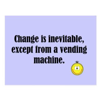 change is inevitable postcard
