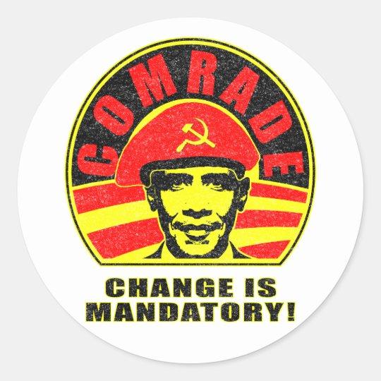 Change is Mandatory Classic Round Sticker