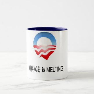 Change is melting mug