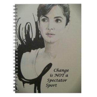 Change is NOT a Spectator Sport.jpg Spiral Notebook