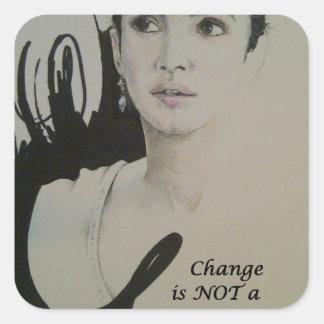Change is NOT a Spectator Sport.jpg Square Sticker