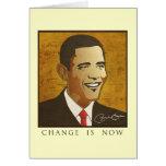 Change is now - Barack Obama Cards