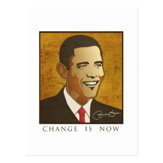 Change is now - Barack Obama Postcard
