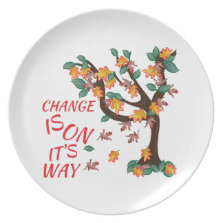 Change Is On It's Way Party Plate