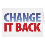 Change It Back Card