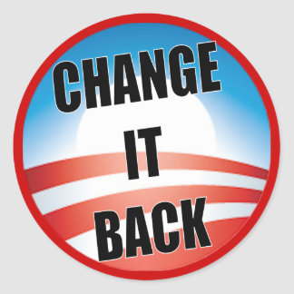 Change It Back Classic Round Sticker
