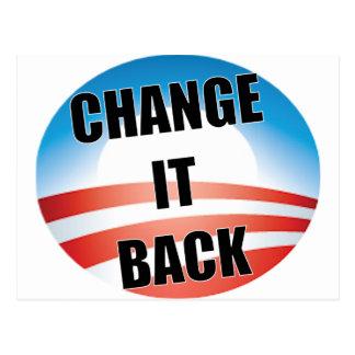Change It Back Postcard
