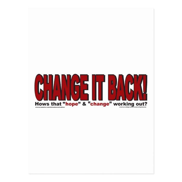 CHANgE-IT-BACK Postcard