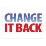Change It Back Postcards