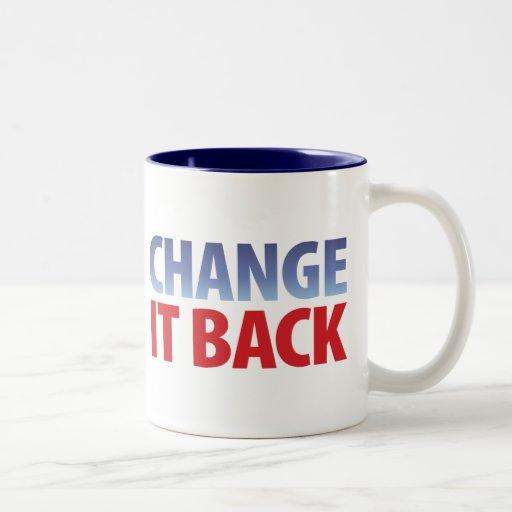 Change It Back Two-Tone Coffee Mug