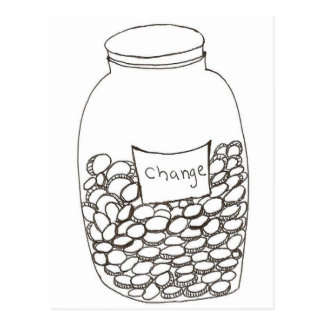 Change Jar Postcard
