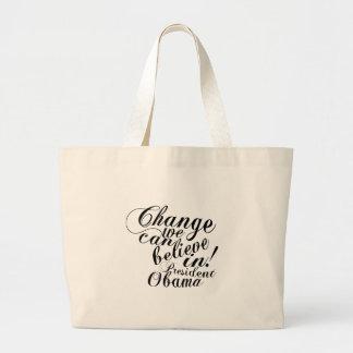 change jumbo tote bag