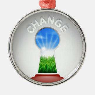 Change Keyhole Concept Metal Ornament
