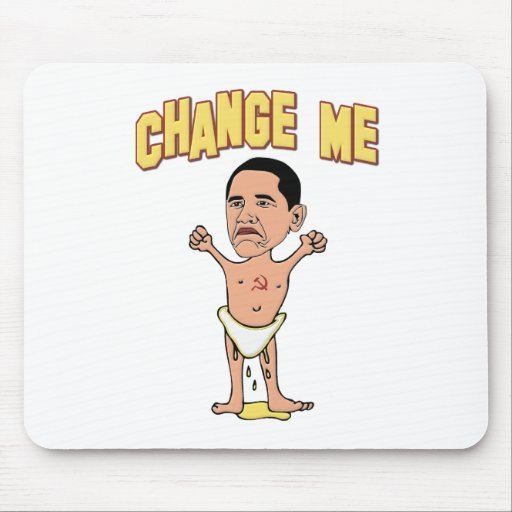 Change Me Obama Baby Mouse Pad