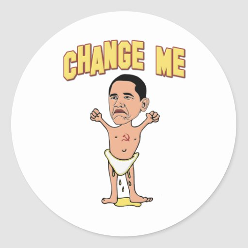 Change Me Obama Baby Stickers