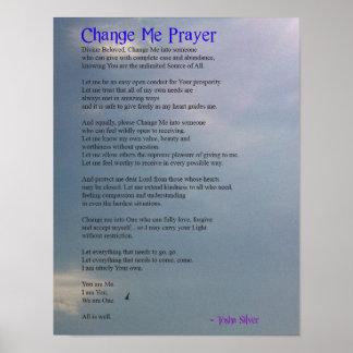 Change Me Prayer Poster