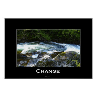 CHANGE Motivational Art Poster