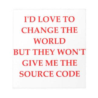 change note pad