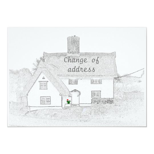 Change of address announcement