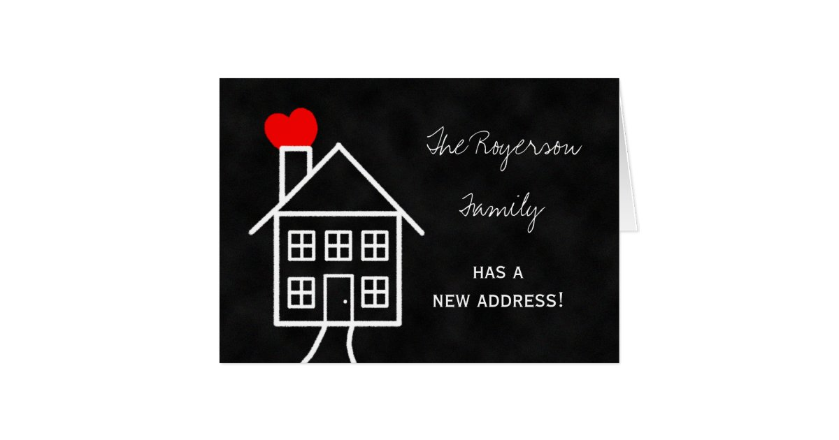 Change of address announcement note card zazzle for Change of address note cards