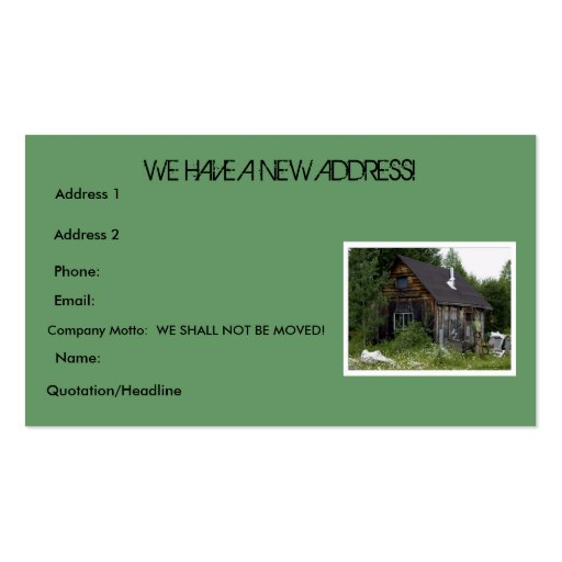 """""""CHANGE OF ADDRESS"""" BUSINESS CARDS"""