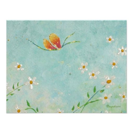 change of address butterfly card personalized invites