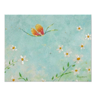 """change of address butterfly card 4.25"""" x 5.5"""" invitation card"""