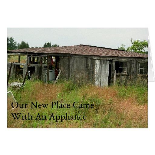 Change of Address Card: Appliance