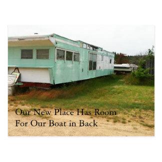 Change of Address Card: Boat in Back Postcard