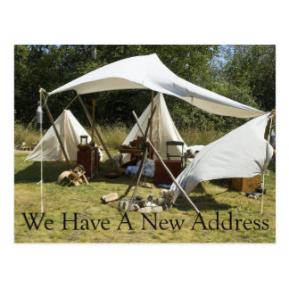 Change of Address Card - Camp