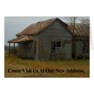 Change of Address Card: Come visit Us Card