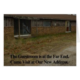 Change of Address Card Guestroom
