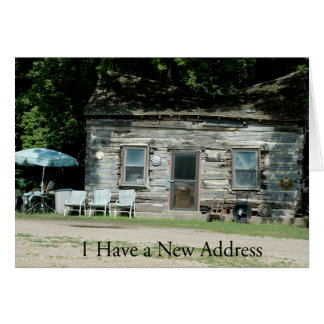 Change of Address Card: Log Cabin