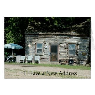 Change of Address Card: Log Cabin Card