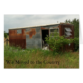 Change of Address Card: Moved to the Country Greeting Card