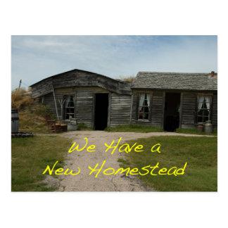 Change of Address Card: New Homestead Postcard