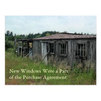 Change of Address Card: New Windows Postcard