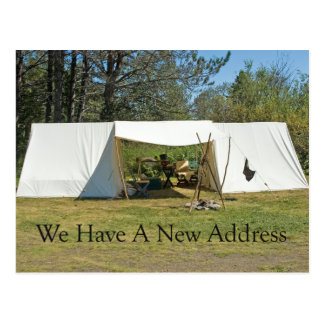 Change of Address Card - Tent Postcard