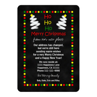 Change of Address Christmas Flat Card Chalkboard