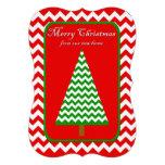 Change of Address Christmas Flat Card Chevron