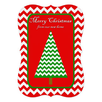 Change of Address Christmas Flat Card Chevron