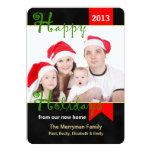 "Change of Address Christmas Flat Card Photo 5"" X 7"" Invitation Card"
