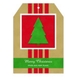 Change of Address Christmas Flat card with Tree