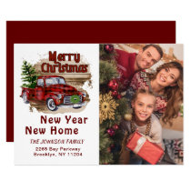 Change of Address Christmas Photo Holiday Card